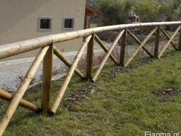 Rounded poles (pins, logs, bars ) made of pine. - photo 2