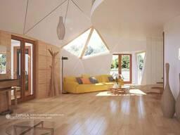 Умный Деревянный Купольный домокомплект пасивхаус 200 м2
