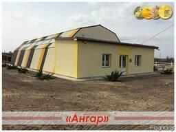 Ангары под скад - прямостенные, шатровые, арочные – изготов - photo 1