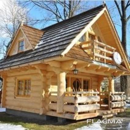 Построим красивый дом из дерева. Из привезенной ели.