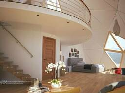 Умный Деревянный Купольный домокомплект пасивхаус 200 м2 - фото 2